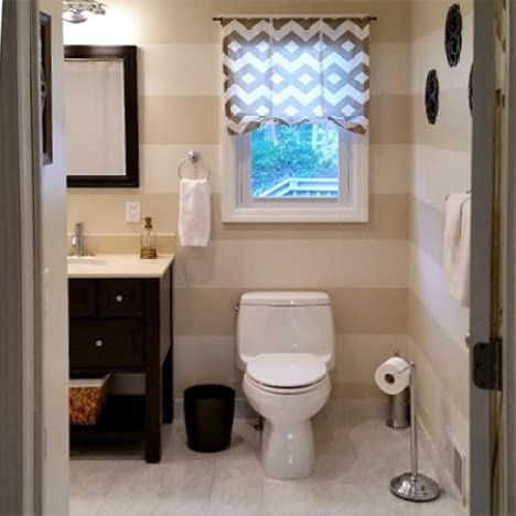 The guest and main bathrooms were cramped and space was tight. Although it was nice to have two separate bathrooms, it made more sense to knock down the wall between these two and turn the two into one large, spacious bathroom.