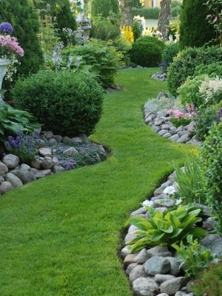 rocks for edging borders and beds