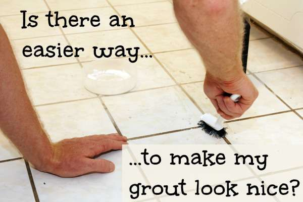 what can you do to fix stained grout