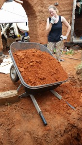 Collapsed wheelbarrow