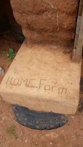 front door footer home farm earthbag build