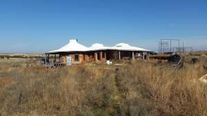 solar array placement earthbag home