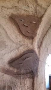granite scraps embedded cob sculpture october 2017 music