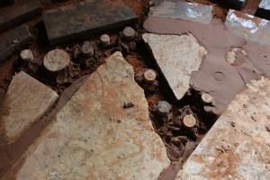 granite scraps soil cement floor home farm