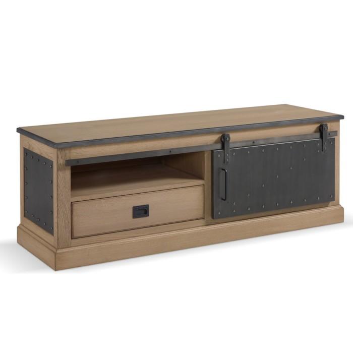 meuble tv boheme 1 porte coulissante