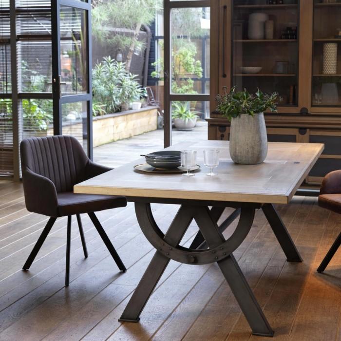 table repas passerelle avec allonge integree