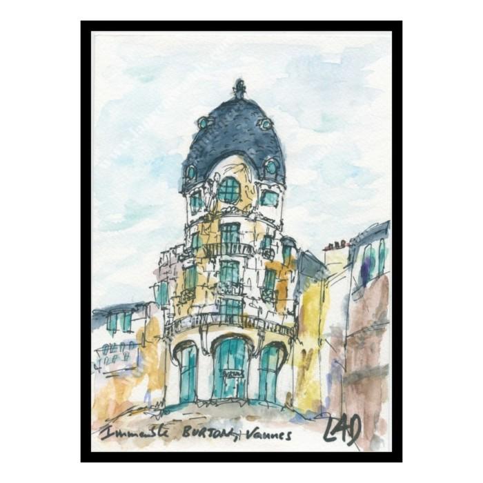 aquarelle immeuble burton a vannes lad