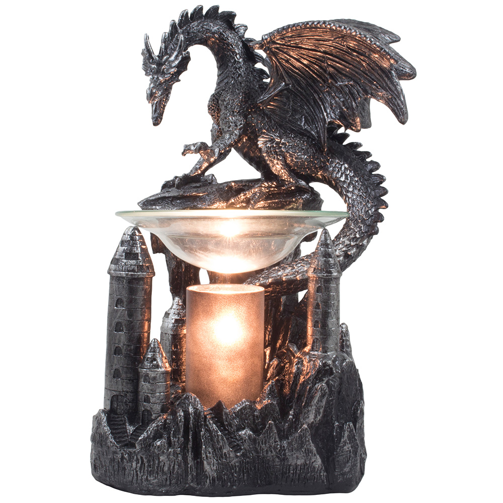 Mythical Winged Dragon Toilet Paper Holder In Metallic Look For Medieval And Got