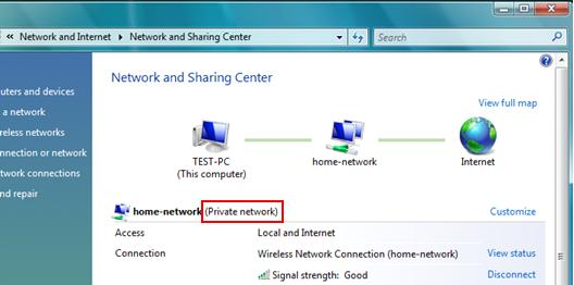 Vista Private Network