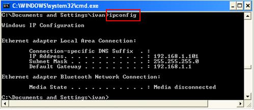 Image result for ipconfig command