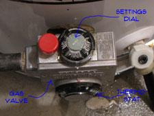 water heater pilot light igniter gas