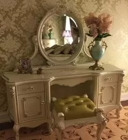 French Style Bedroom Furniture French Dressing Table Hand Made Carve