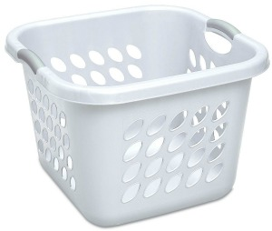 sterilite square plastic laundry basket create a laundry schedule