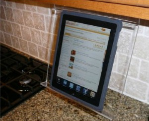 kitchen Tablet stand 52 week home organization challenge