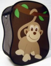 kids monkey laundry hamper