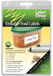 erasable food container labels Refrigerator and Freezer Organization