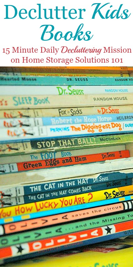 How To Declutter Kids Books