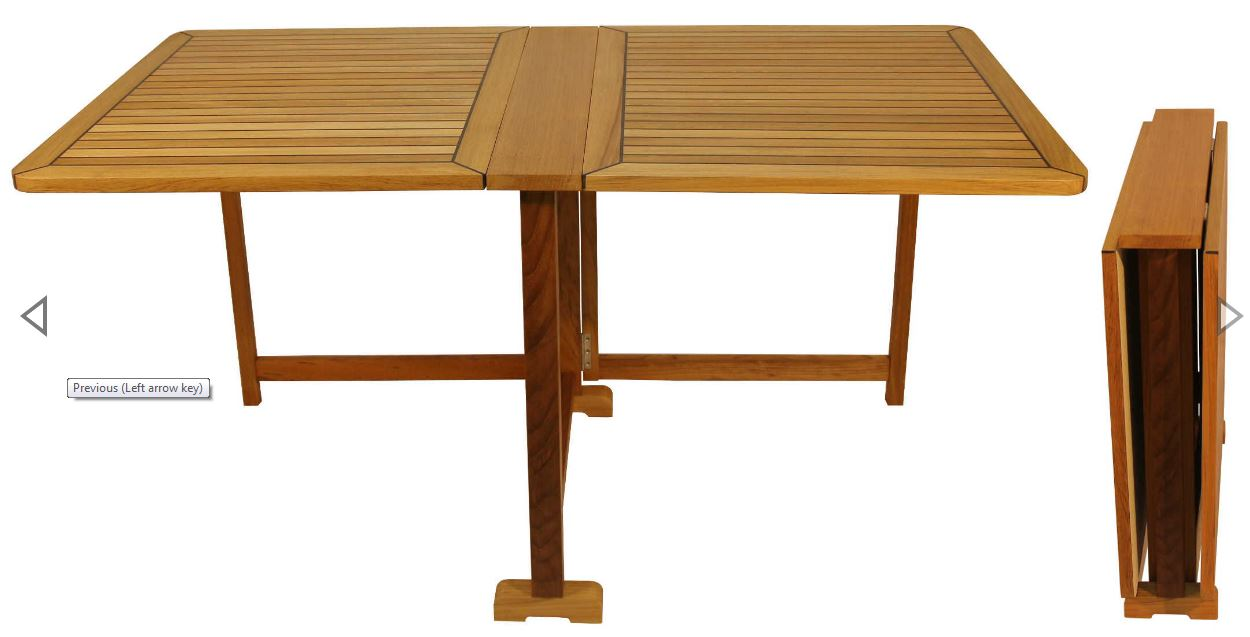 Teak Folding Table Home Yacht Linen And Interiors