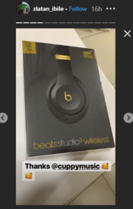 DJ Cuppy Gifts Zlatan Ibile A Costly Headphone 3