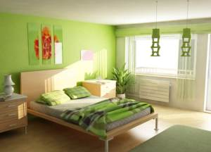 bedroom-painted-in-green