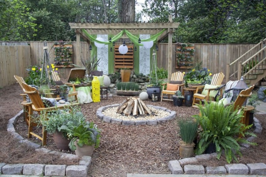 Rustic Style Patio Design Ideas Photos
