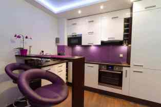 contemporary purple kitchen bar stools which instantly puts a smile on your face