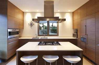 contemporary kitchen and bar stools