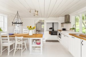 modern, high-end country kitchen