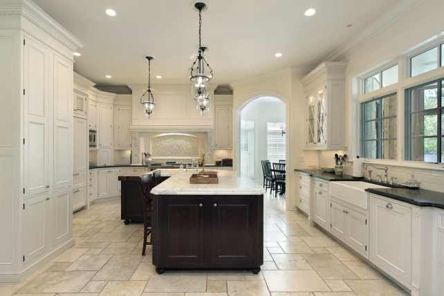 large cream kitchen for minimalists