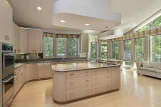 spectacular cream kitchen with large area