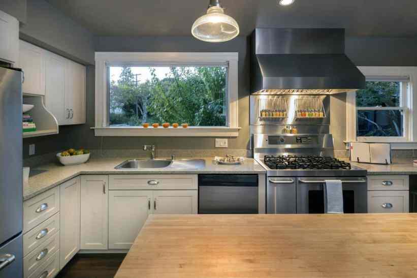 traditional grey kitchen