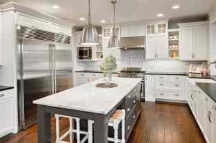 beautiful custom grey kitchen
