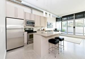 dashing open plan kitchen for minimalists
