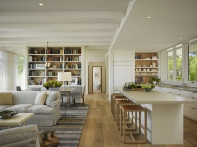 space-saving trick for small open plan kitchen and living room
