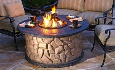 Stone Patio Fire Ring Fire Pit Design