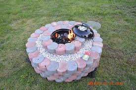 Fire-pit Using Concrete Tree Rings