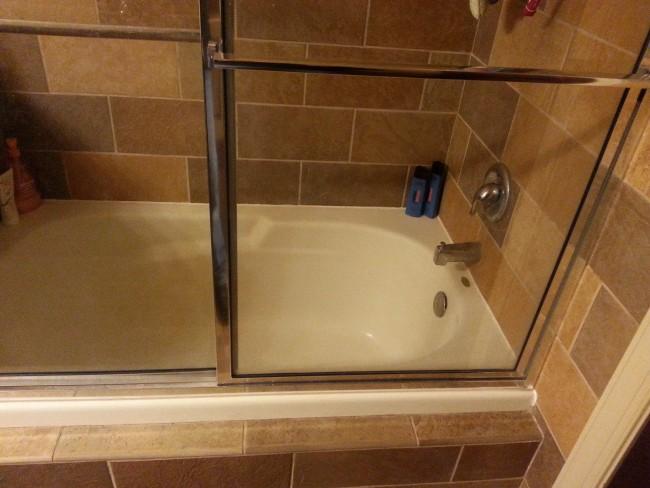 Shower Installation Base Tub Stall Small Bath