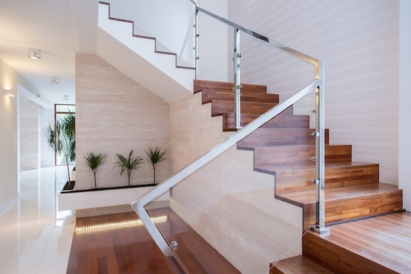 2020 Glass Deck Stair Railing Costs Per Foot Homeadvisor | New Stair Railing Cost | Staircase Ideas | Glass Railing | Staircase Design | Stair Parts | Wooden Stairs