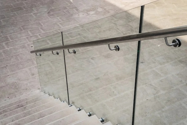 2020 Glass Deck Stair Railing Costs Per Foot Homeadvisor   Glass Stair Railing Near Me   Interior   Railing Systems   Stainless Steel   Tempered Glass Panels   Iron
