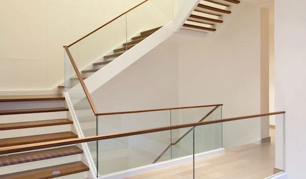 2020 Glass Deck Stair Railing Costs Per Foot Homeadvisor | Frosted Glass Stair Panels | Smoked | Toughened | Deck | Balcony | Contemporary