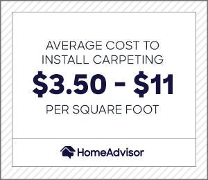 2021 cost of carpet installation