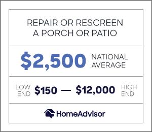 repair a porch or patio enclosure
