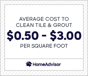 cost of tile and grout cleaning service