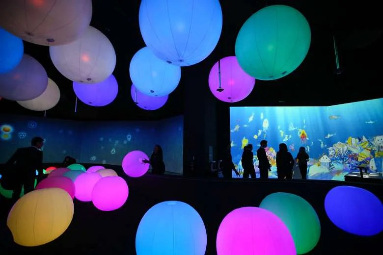 New Exhibition At The ArtScience Museum Plays With Lights Sounds And Colours Home Amp Decor