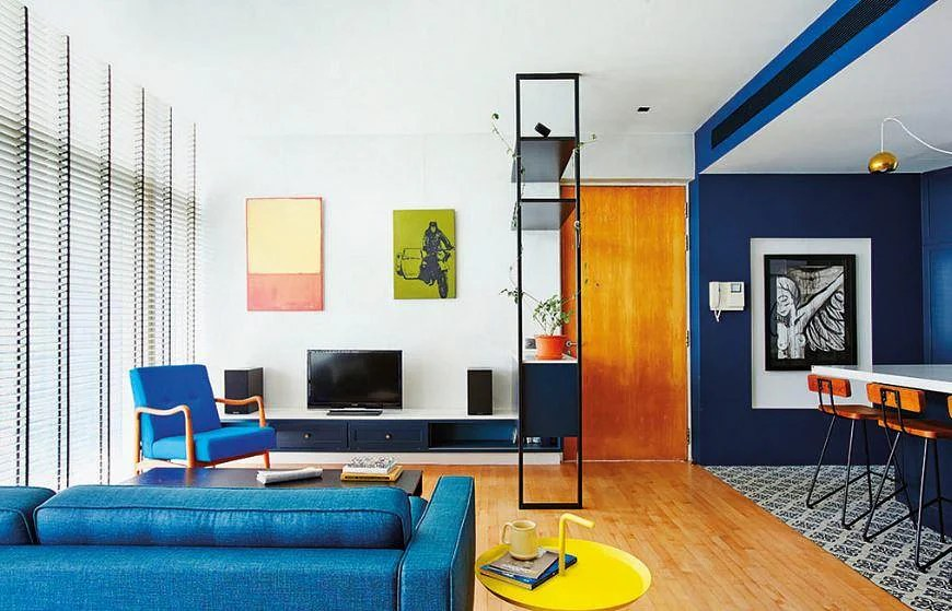 Bold And Blue Two Homes Show You How To Make Blue