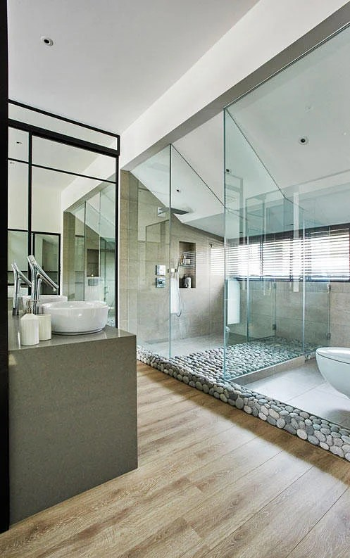 7 Classy Homes With Open Concept Bathrooms Home Amp Decor