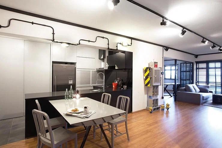 An Industrial HDB Flat Thats More Sleek Than Rough Home