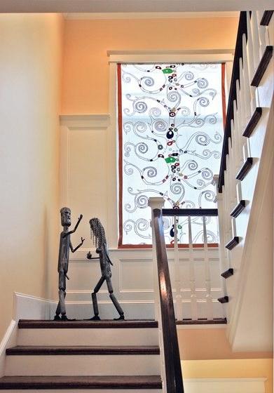 Window Dressing Home Design Magazine | Stair Room Window Design | 3D Model | Smart Window Grill | Elegant | Landing | House Beautiful