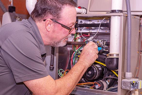 hvac heating unit connection inspection
