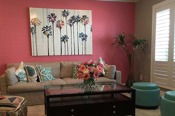 Interior design ideas living room accent wall